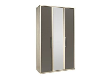 Kingsley 3 Door Centre Mirror Bi-fold Wardrobe in Atv - Tristan Grey on FV