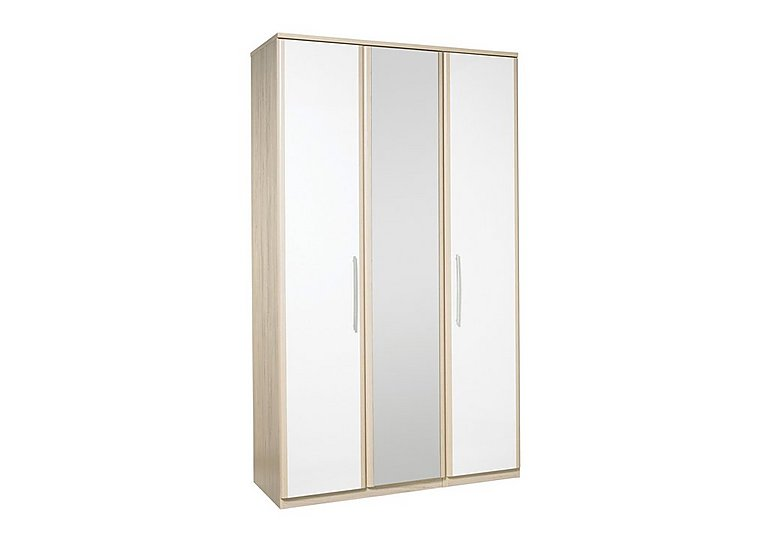 Kingsley 3 Door Centre Mirror Bi-fold Wardrobe