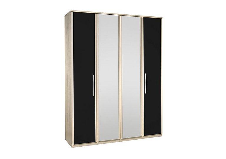 Kingsley 4 Door Centre Mirror Bi-fold Wardrobe