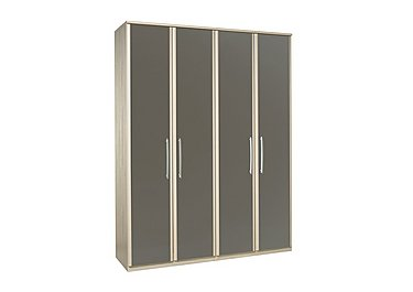 Kingsley 4 Door Wardrobe in Atv - Tristan Grey on Furniture Village