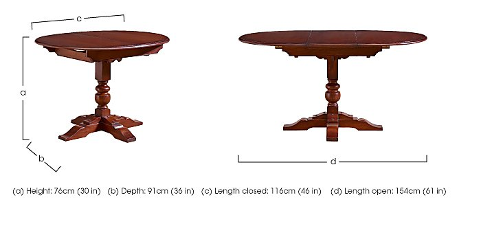Old Charm Aldeburgh Oval Extending Dining Table in  on Furniture Village