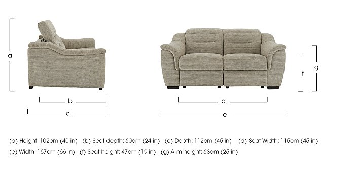 Lowry 2 Seater Fabric Sofa  in {$variationvalue}  on FV