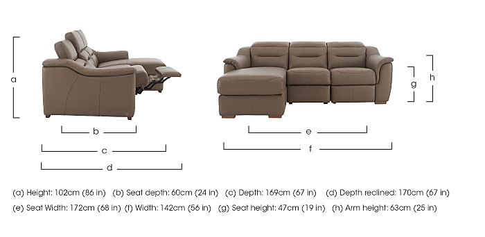 Lowry Leather Recliner Chaise  in {$variationvalue}  on FV