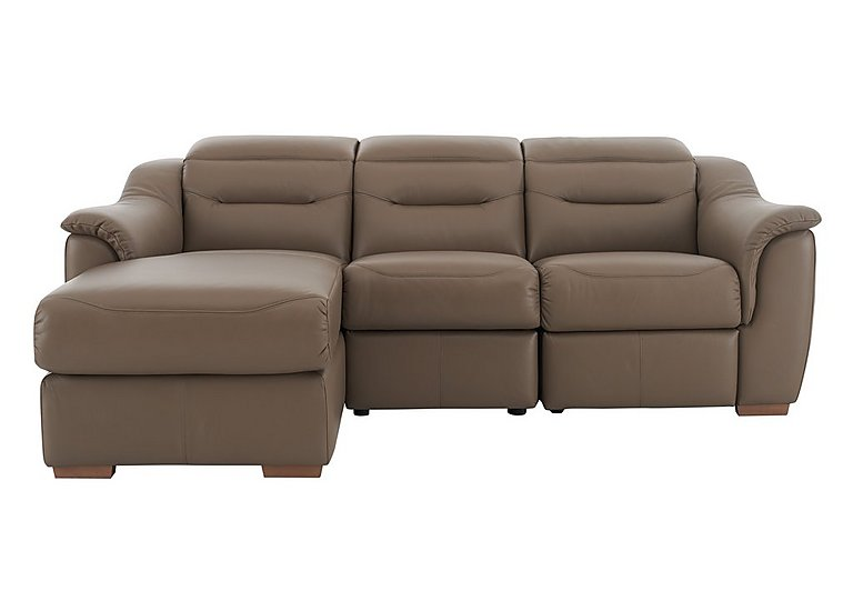 Lowry Leather Recliner Chaise in P232 Capri Taupe on FV