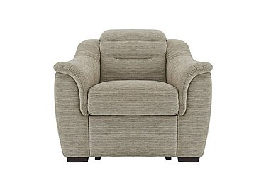 Lowry Fabric Recliner Armchair in B914 Victoria Pebble on FV