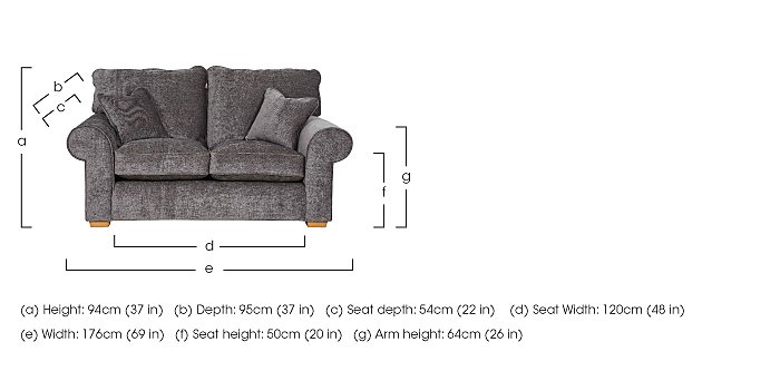 Portobello 2 Seater Fabric Sofa in  on FV