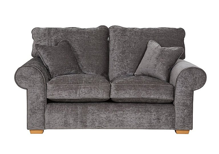 Portobello 2 Seater Fabric Sofa in Shimmer Platinum on FV