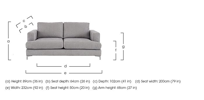 Sofia 3 Seater Fabric Sofa in  on FV