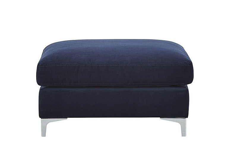 Sofia Fabric Footstool in 11 Bellagio Azure on FV