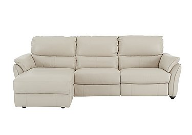 Salamander 3 Seater Leather Chaise Recliner Sofa in An-156e Frost on FV