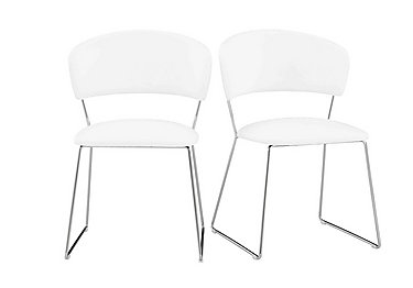 Eminence Pair of Dining Chairs in White on Furniture Village
