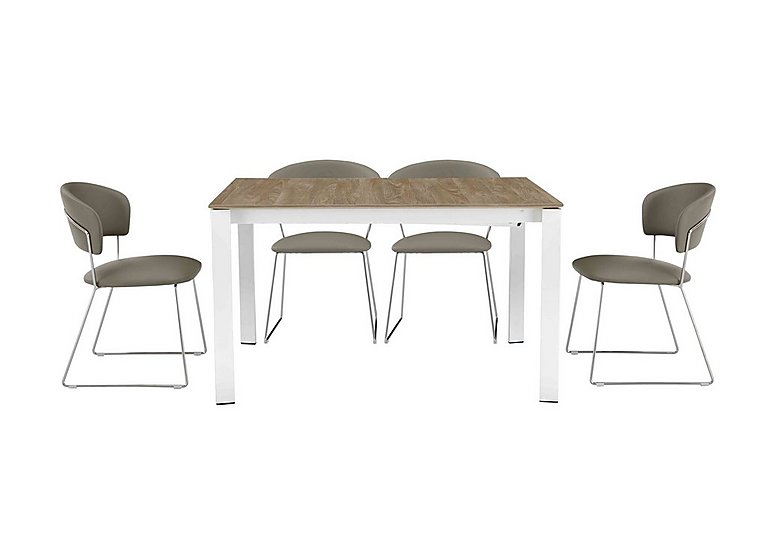 Eminence Table and 4 Chairs in Taupe on FV