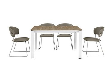 Eminence Table and 4 Chairs in Taupe on Furniture Village