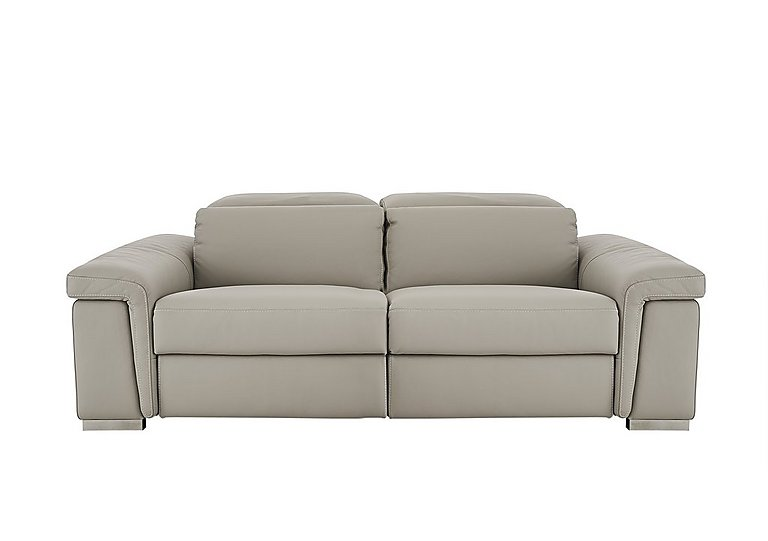 Movimento 2 Seater Leather Sofa in Torello 328 Tortora on FV
