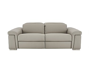 Movimento 2.5 Seater Leather Sofa in Torello 328 Tortora on FV