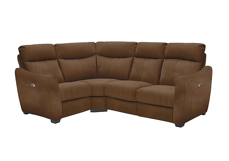Compact Collection Midi Fabric Recliner Corner Sofa