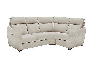 Compact Collection Midi Fabric Recliner Corner Sofa in Bfa-Blj-R20 Bisque on FV