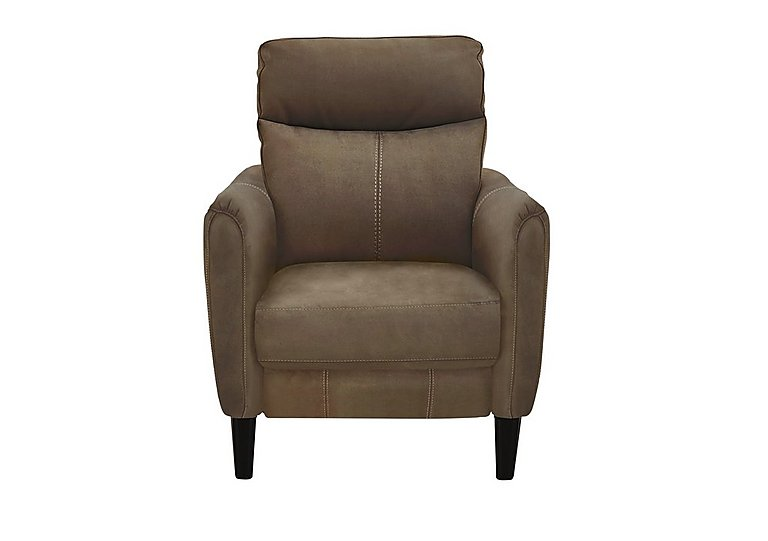Compact Collection Petit Fabric Recliner Armchair in Bfa-Blj-R04 Tobacco on FV