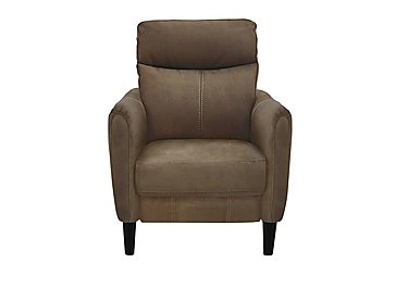 Compact Collection Petit Fabric Recliner Armchair in Bfa-Blj-R04 Tobacco on Furniture Village