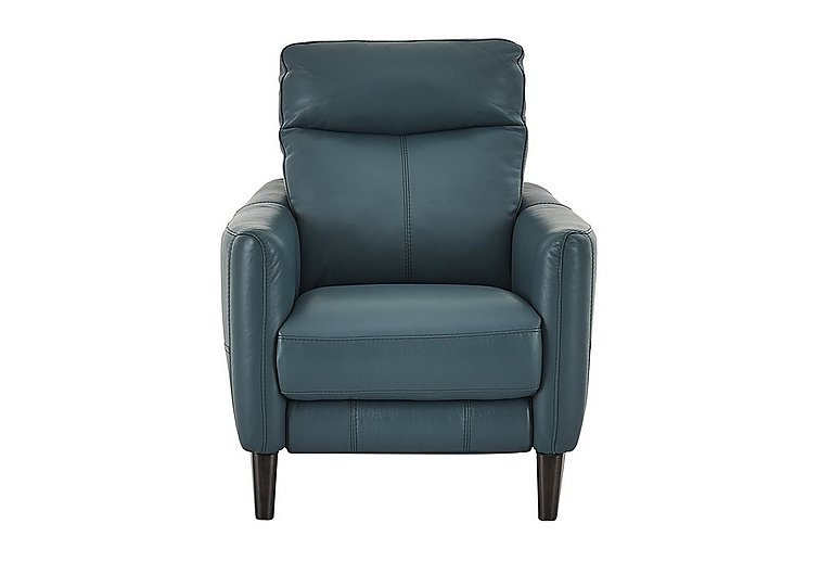 Compact Collection Petit Leather Recliner Armchair in Nc-301e Lake Green on Furniture Village