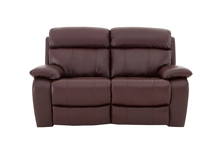Moreno 2 Seater Leather Recliner Sofa in An-751b Burgundy on FV
