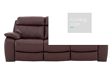 Moreno 3 Seater Leather Recliner Sofa in An-751b Burgundy on FV