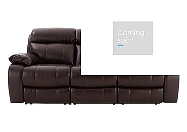 Moreno 3 Seater Leather Recliner Sofa in Go-194e Black Cherry on FV