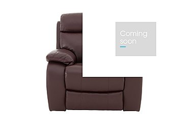 Moreno Leather Recliner Armchair in An-751b Burgundy on FV