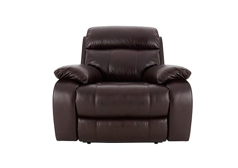 Moreno Leather Recliner Armchair in Go-194e Black Cherry on FV