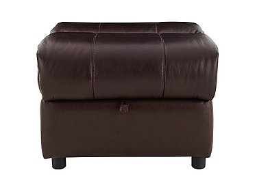 Moreno Leather Storage Footstool in Go-194e Black Cherry on FV