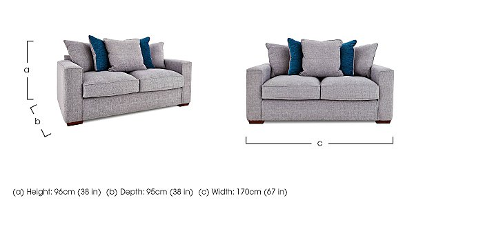 Dune 2 Seater Fabric Pillow Back Sofa in  on FV