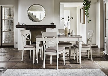 Annecy Extending Dining Table and 4 Crossback Chairs in  on FV