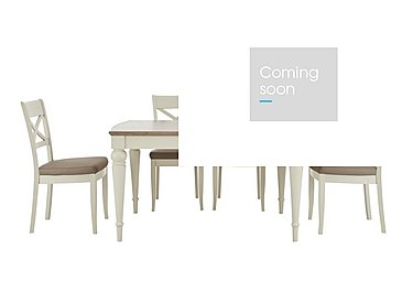 Annecy Extending Dining Table and 4 Crossback Chairs in Grey Washed Oak And Soft Grey on FV