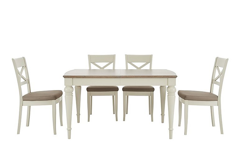 Annecy Extending Dining Table and 4 Crossback Chairs  in {$variationvalue}  on FV