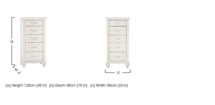 Annecy 5 Drawer Tall Chest in  on Furniture Village