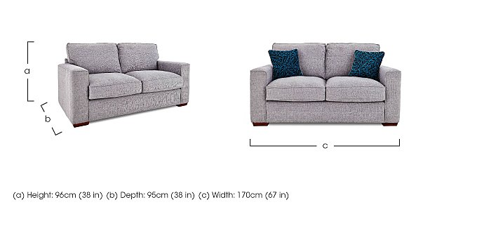 Dune 2 Seater Fabric Sofa in  on Furniture Village