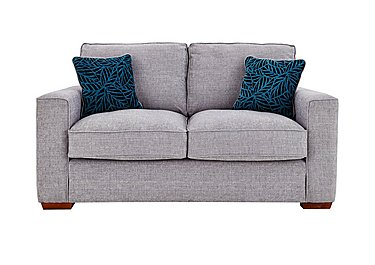 Dune 2 Seater Fabric Sofa in Barley Silver All Over Lt Feet on FV