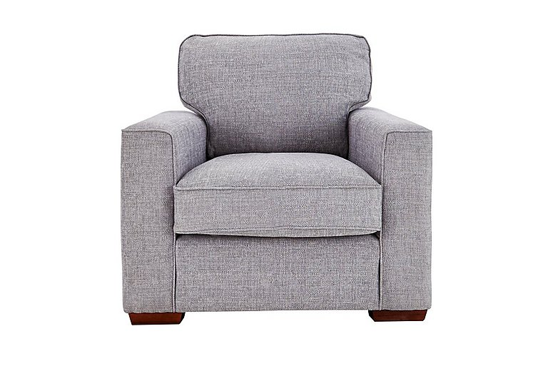 Dune Fabric Armchair in Barley Silver All Over Dk Feet on Furniture Village