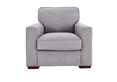 Dune Fabric Armchair in Barley Silver All Over Dk Feet on FV