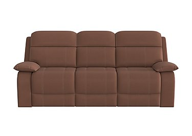 Moreno 3 Seater Fabric Recliner Sofa in Bfa-Blj-R05 Hazelnut on Furniture Village