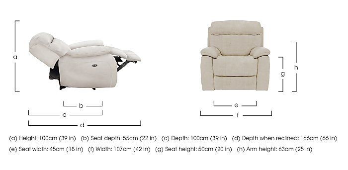 Moreno Fabric Recliner Armchair in  on Furniture Village