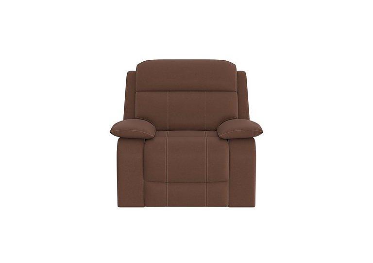 Moreno Fabric Recliner Armchair in Bfa-Blj-R05 Hazelnut on Furniture Village