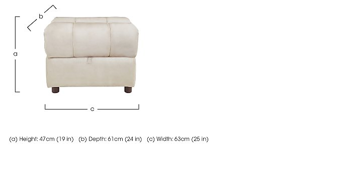 Moreno Fabric Storage Footstool in  on FV