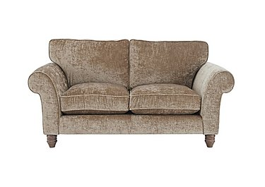 Lancaster 2 Seater Fabric Sofa in Modena Velvet Sand Dk Ft on FV