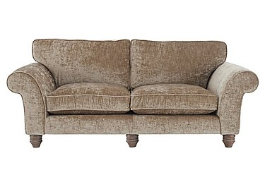 Lancaster 4 Seater Fabric Sofa in Modena Velvet Sand Dk Ft on Furniture Village