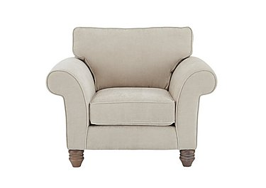 Lancaster Fabric Armchair in Sherlock Plain Pearl Dk Ft on FV