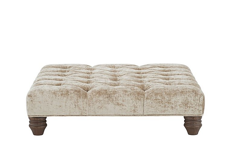 Lancaster Fabric Footstool in Sherlock Plain Pearl Dk Ft on Furniture Village