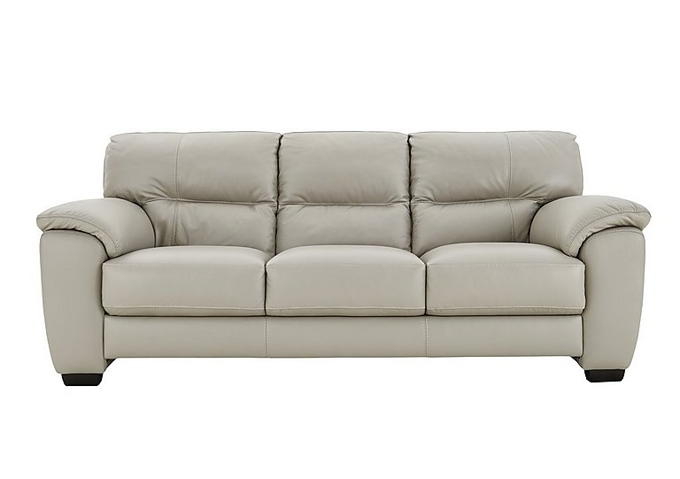 Shades 3 seater 3 cushion leather sofa furniture village for Furniture village sofa
