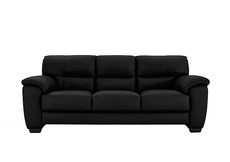 Shades 3 Seater 3 Cushion Leather Sofa