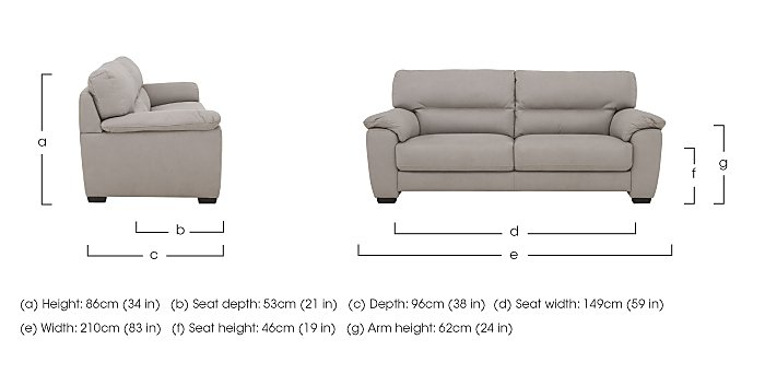 Shades 3 Seater Fabric Sofa in  on Furniture Village